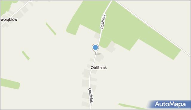 Obliźniak, Obliźniak, mapa Obliźniak