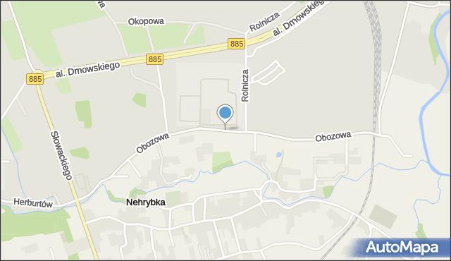 Przemyśl, Obozowa, mapa Przemyśla