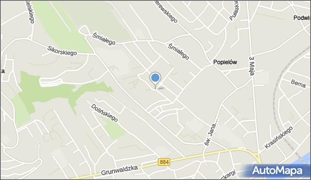 Przemyśl, Obrońców Westerplatte, mapa Przemyśla