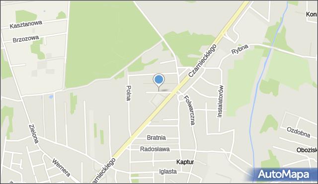 Radom, Obozowa, mapa Radomia