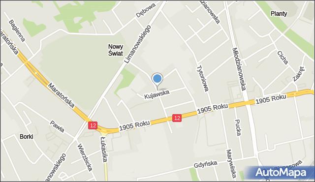 Radom, Obrońców, mapa Radomia