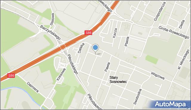 Sosnowiec, Objazd, mapa Sosnowca