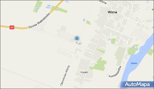 Wizna, Obrońców Wizny, mapa Wizna