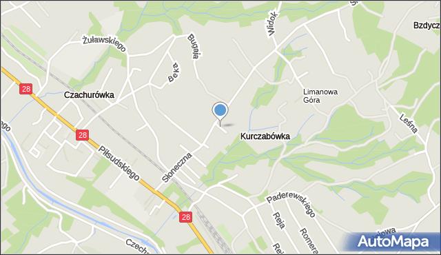 Limanowa, Ociepki Tadeusza, mapa Limanowa
