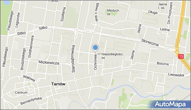 Tarnów, Ochronek, mapa Tarnów