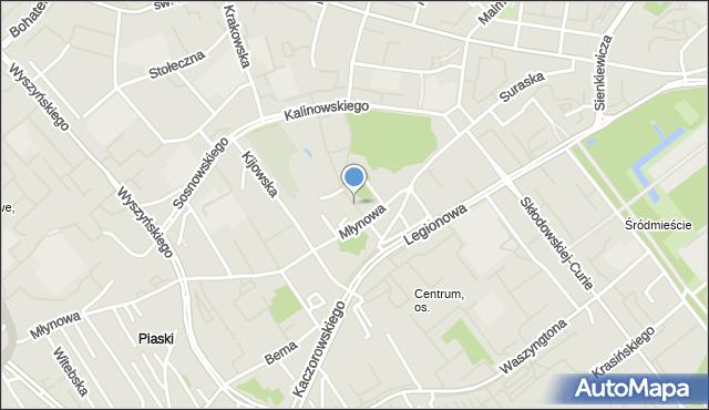 Białystok, Odeska, mapa Białegostoku