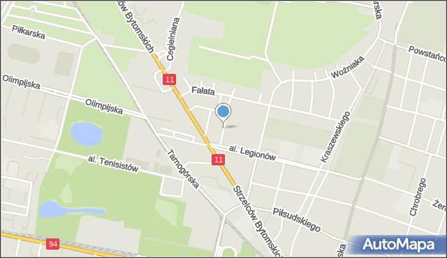 Bytom, Odlanickiej-Poczobutt Bożenny, mapa Bytomia