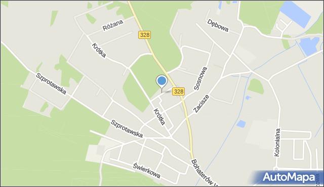 Chocianów, Odrodzenia, mapa Chocianów