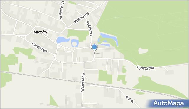 Mrozów, Odrzańska, mapa Mrozów
