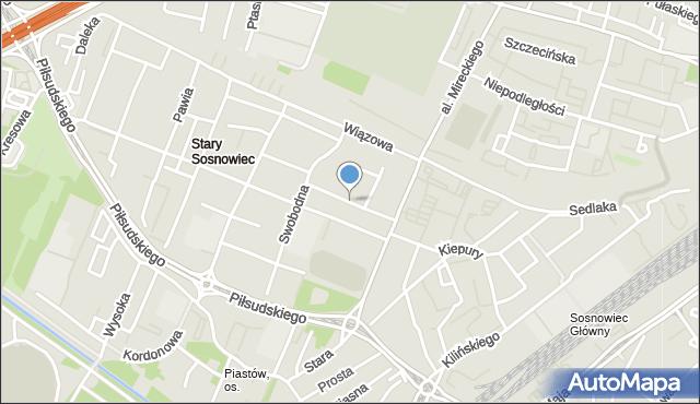 Sosnowiec, Odrodzenia, mapa Sosnowca