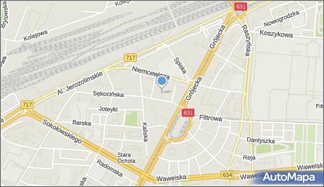 Warszawa, Odrzykońska, mapa Warszawy