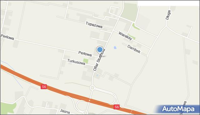 Luzino, Ofiar Stutthofu, mapa Luzino