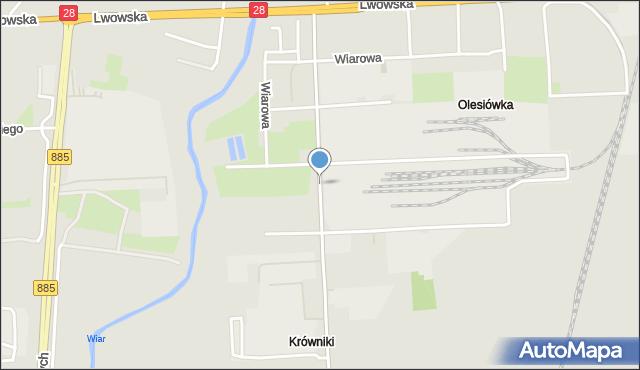 Przemyśl, Ofiar Katynia, mapa Przemyśla
