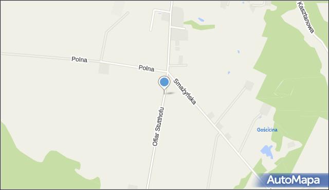 Wyszecino, Ofiar Stutthofu, mapa Wyszecino