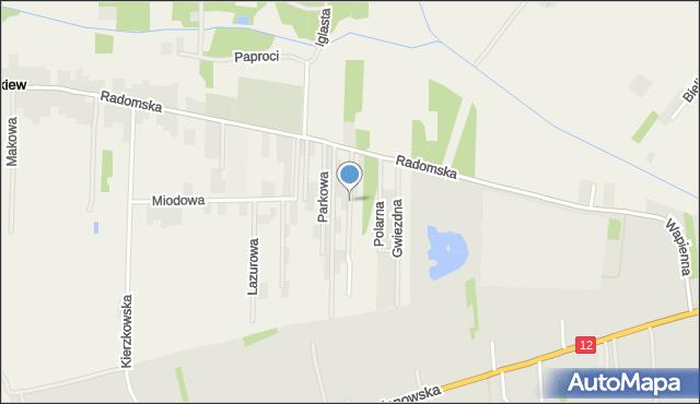 Cerekiew gmina Zakrzew, Ogrodowa, mapa Cerekiew gmina Zakrzew