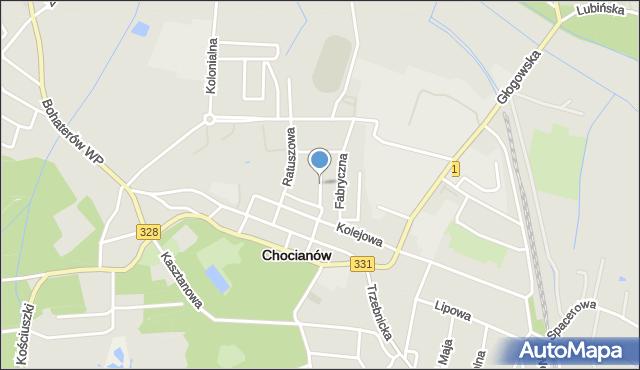 Chocianów, Ogrodowa, mapa Chocianów
