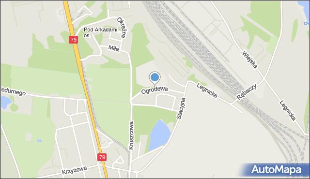 Chorzów, Ogrodowa, mapa Chorzów