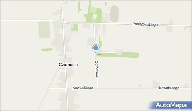 Czarnocin powiat piotrkowski, Ogrodowa, mapa Czarnocin powiat piotrkowski