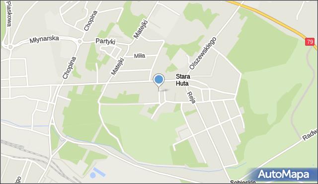 Jaworzno, Ogrodnicza, mapa Jaworzno