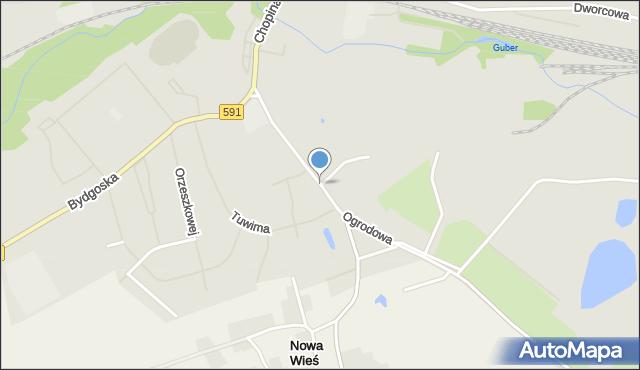Kętrzyn, Ogrodowa, mapa Kętrzyn