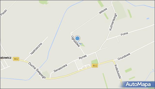 Latowicz, Ogrodowa, mapa Latowicz