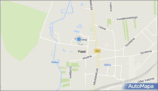 Lubaczów, Ogrodowa, mapa Lubaczów