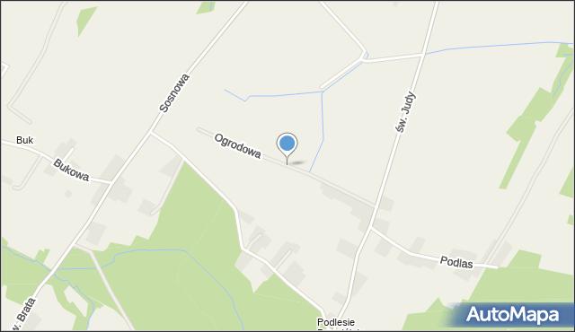 Nidek, Ogrodowa, mapa Nidek