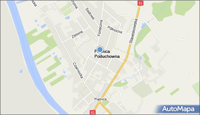 Piątnica Poduchowna, Ogrodowa, mapa Piątnica Poduchowna