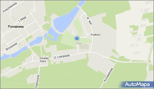 Poniatowa powiat opolski, Ogrodowa, mapa Poniatowa powiat opolski