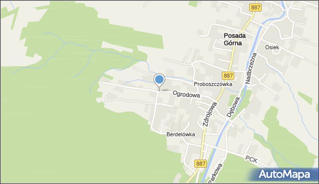 Rymanów-Zdrój, Ogrodowa, mapa Rymanów-Zdrój