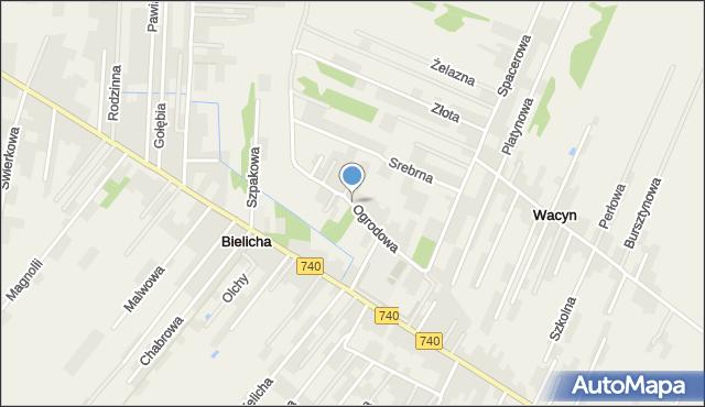 Wacyn, Ogrodowa, mapa Wacyn