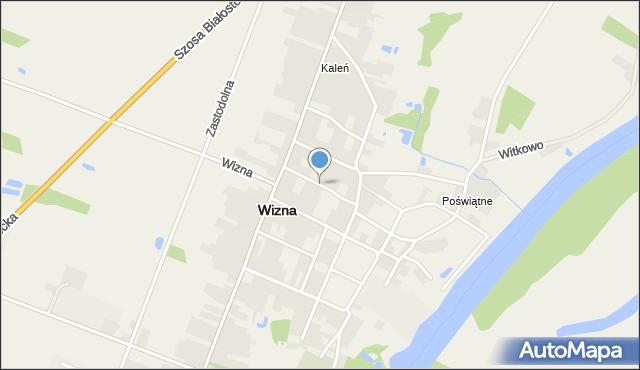 Wizna, Ogrodowa, mapa Wizna