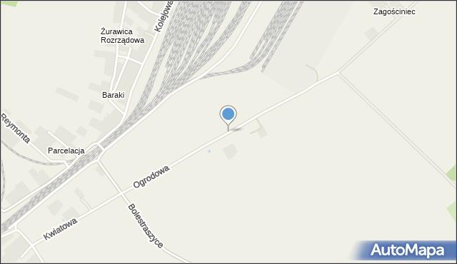 Żurawica powiat przemyski, Ogrodowa, mapa Żurawica powiat przemyski