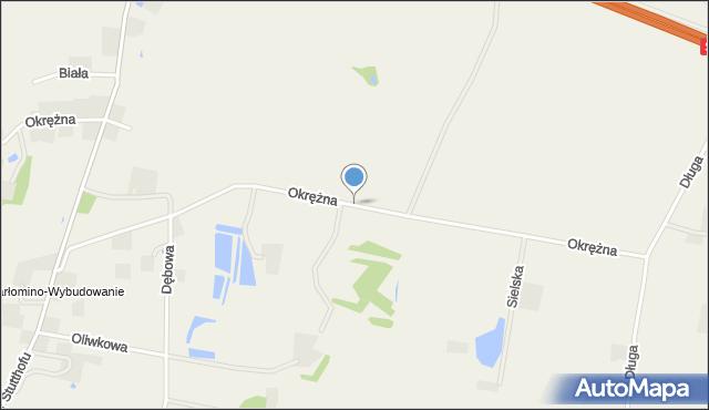 Barłomino, Okrężna, mapa Barłomino