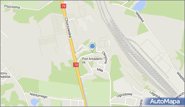 Chorzów, Okrężna, mapa Chorzów