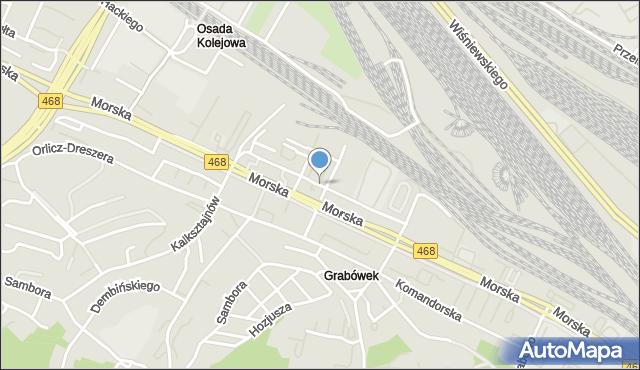 Gdynia, Okrzei Stefana, mapa Gdyni