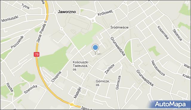 Jaworzno, Okrężna, mapa Jaworzno
