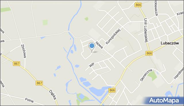 Lubaczów, Okrężna, mapa Lubaczów