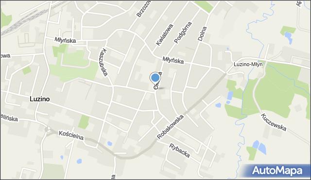 Luzino, Okólna, mapa Luzino