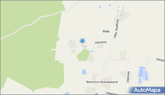 Luzino, Okrężna, mapa Luzino