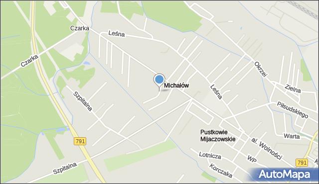 Myszków, Okopowa, mapa Myszków