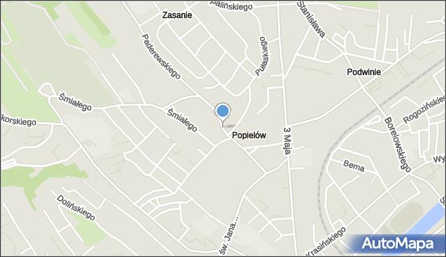 Przemyśl, Okrzei Stefana, mapa Przemyśla