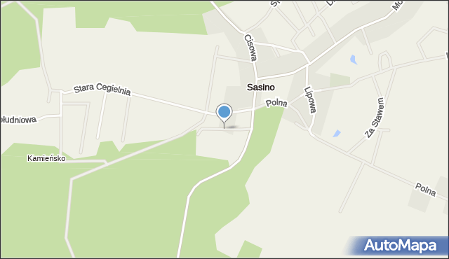 Sasino, Okrężna, mapa Sasino