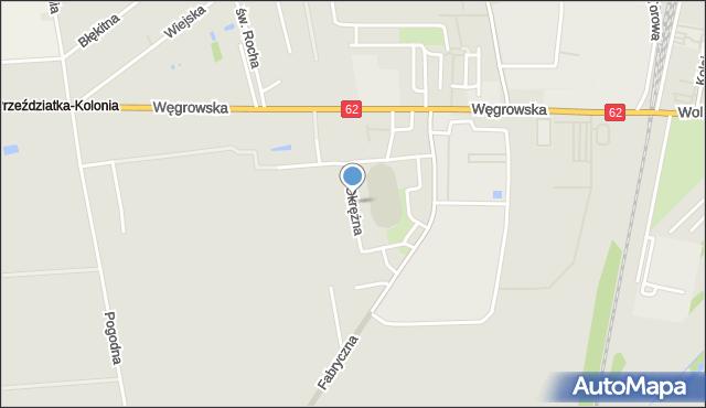 Sokołów Podlaski, Okrężna, mapa Sokołów Podlaski