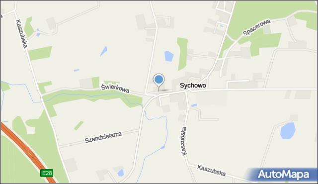 Sychowo, Okulickiego Leopolda, gen., mapa Sychowo