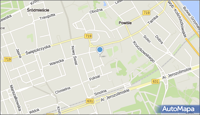 Warszawa, Okólnik, mapa Warszawy