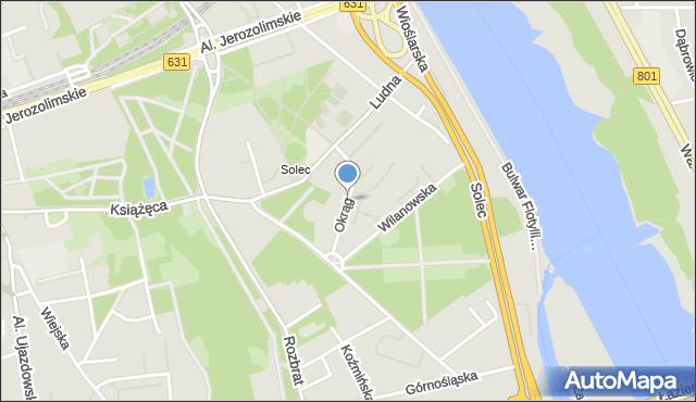 Warszawa, Okrąg, mapa Warszawy