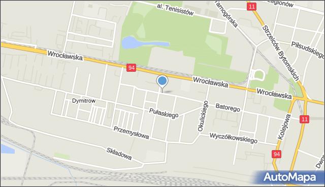 Bytom, Olejniczaka Stanisława, mapa Bytomia
