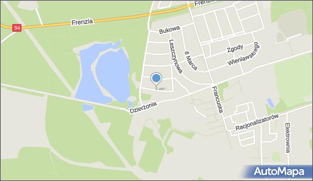 Bytom, Olchowa, mapa Bytomia