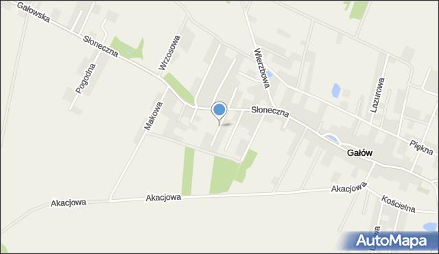 Gałów, Oliwkowa, mapa Gałów